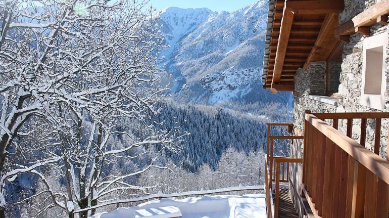 La baita di Sagna Rotonda in Piemonte