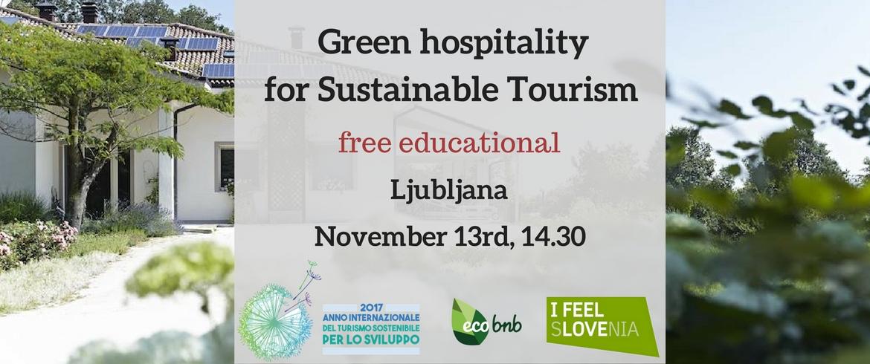 Workshop di Ecobnb a Lubiana, Slovenia