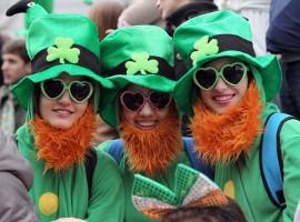 Il giorno di San Patrizio a Dublino, in Irlanda