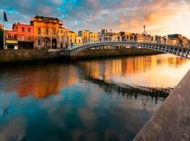 La città di Dublino, capitale dell'Irlanda