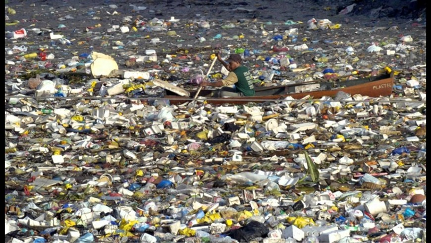 Isola di plastica nell'oceano Pacifico