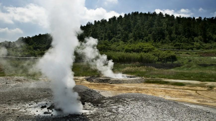 Area geotermica tra le colline senesi