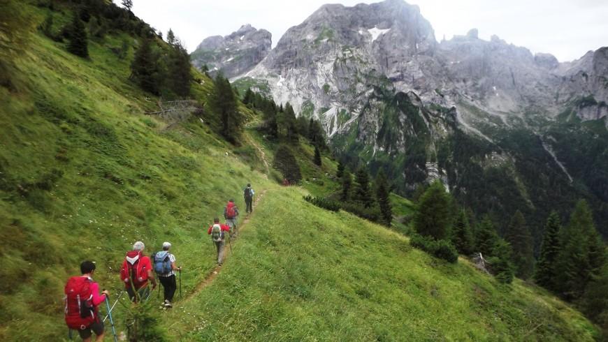 Esplorare le Alpi in treno: Trekking nel Parco Nazionale Dolomiti Bellunesi, Veneto
