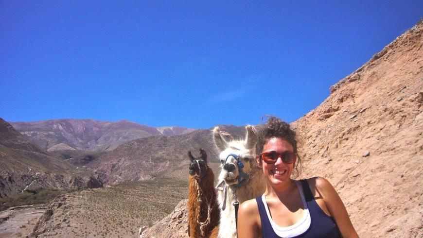 Laura Scrivere, una delle guide del trekking verso le Cascate del Pessola organizzato in occasione di It.a.cà