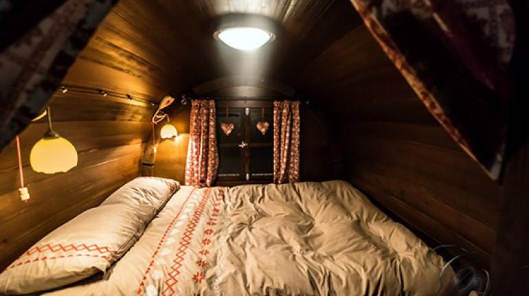 Dormire in una botte, rifugio de Marsi, Marche