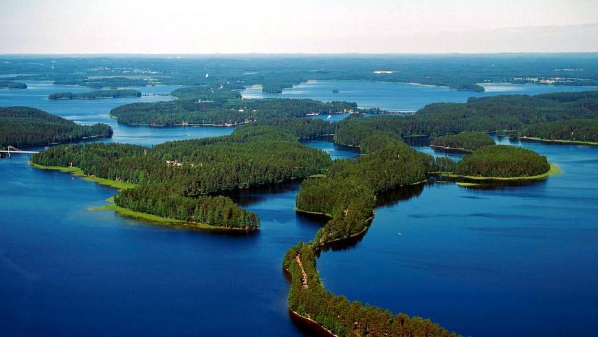 Lago Saimaa in Finlandia
