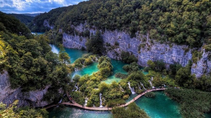 Lago Kozjak in Croazia