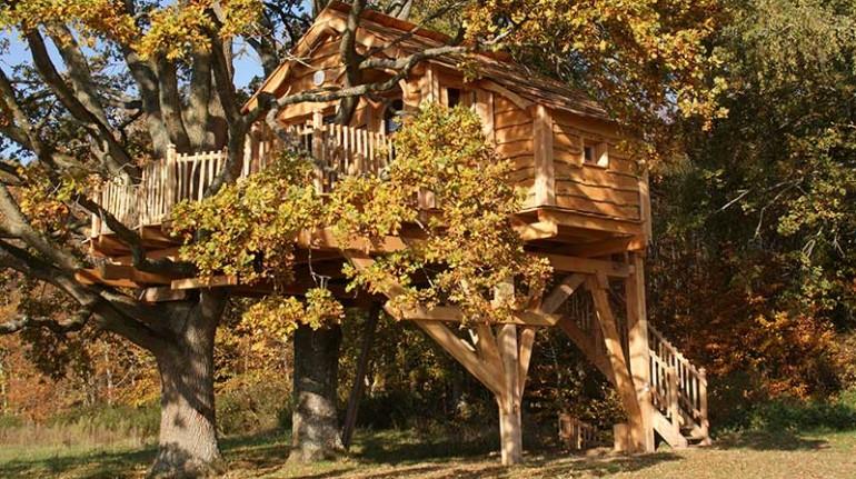 Cabane perchée Normandie, case sugli alberi in Francia
