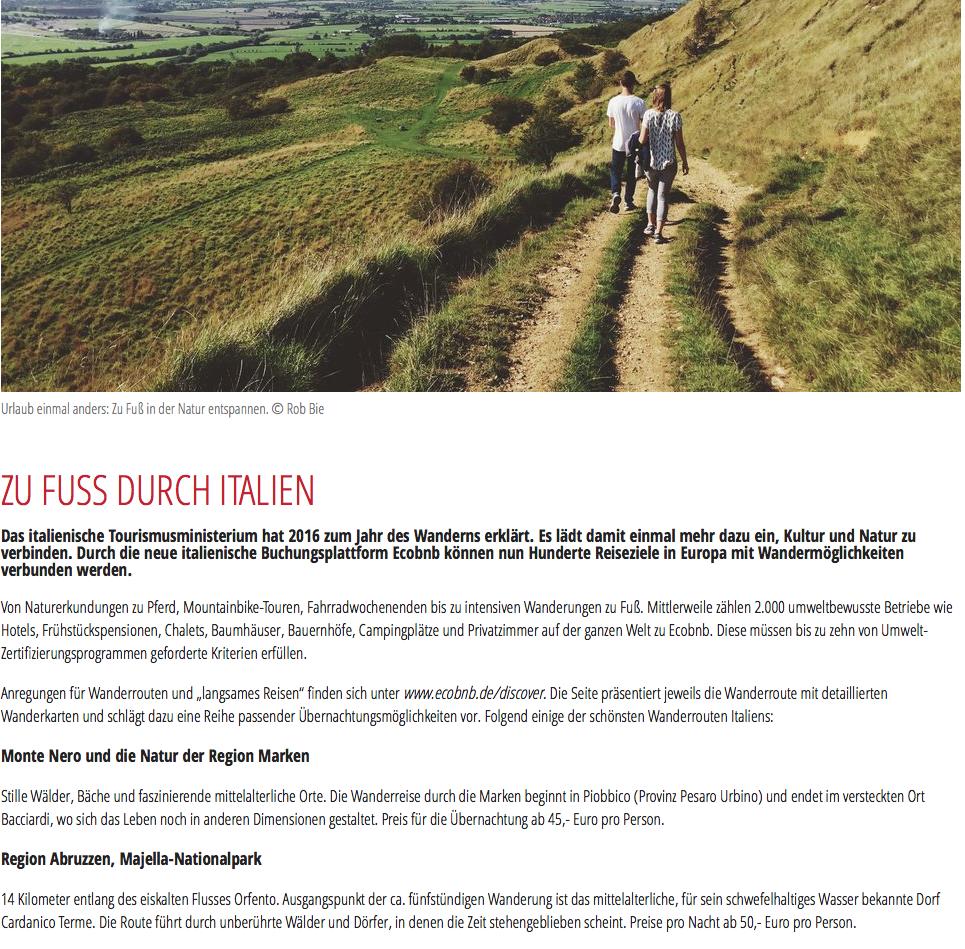 Anche la rivista austriaca REISE AKTUELL parla di noi