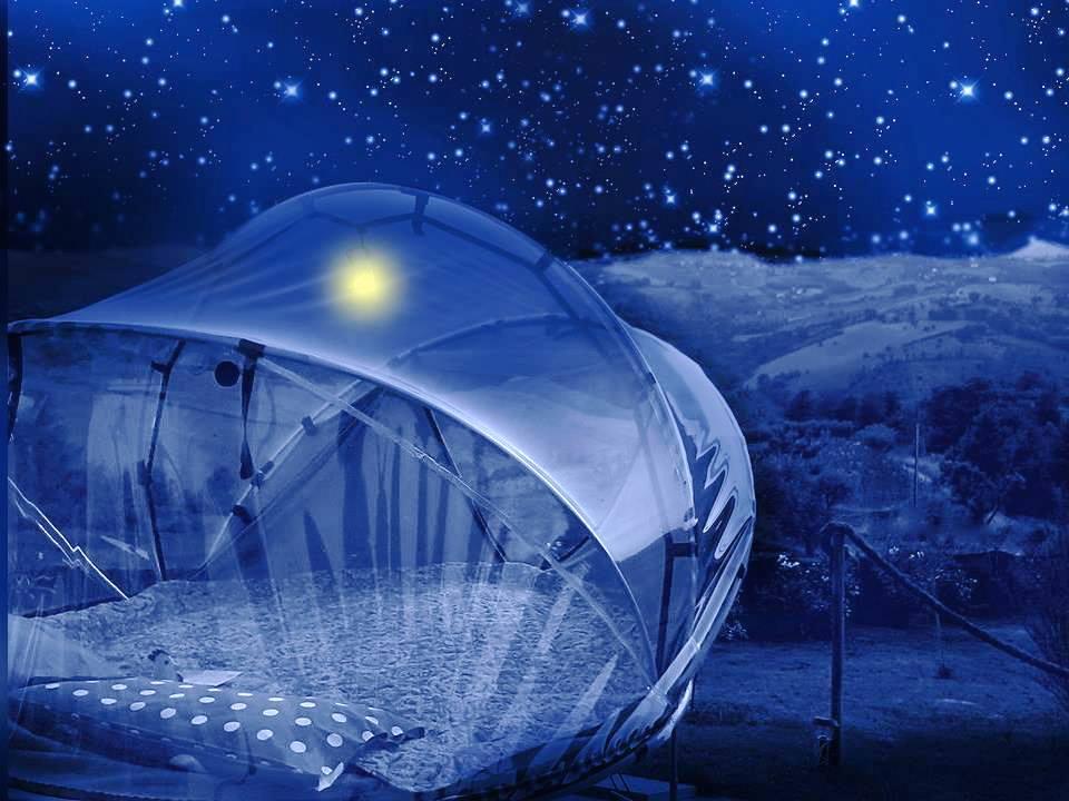 tenda sotto le stelle, al B&B La casa dei nonni, Marche