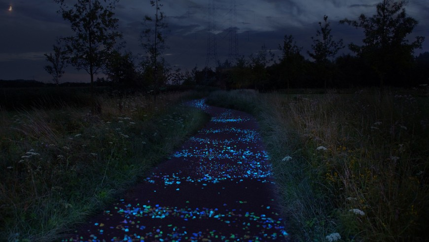 Van Gogh Roosegaarde Bicycle Path, la pista ciclabile in Olanda che si ispira a Van Gogh