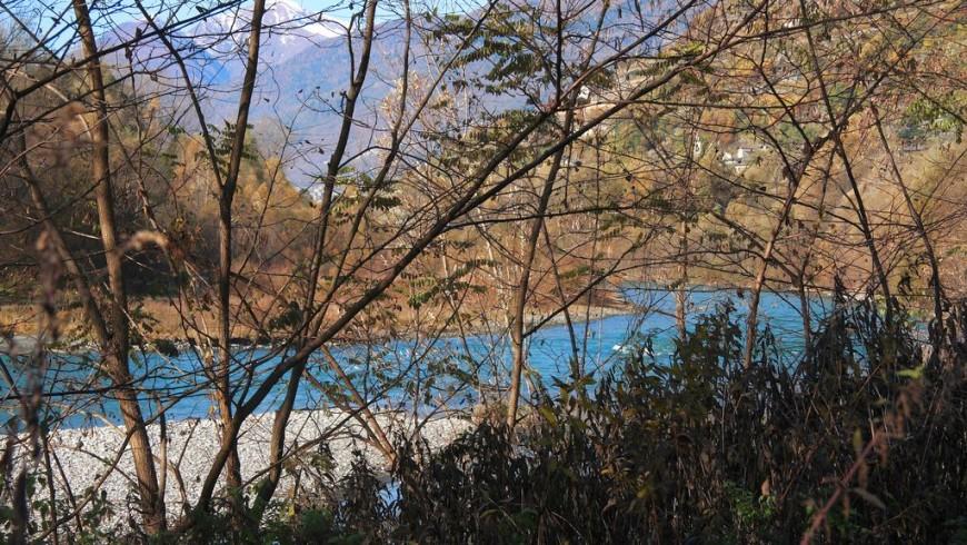 Fiume Adda e sentiero Valtellina