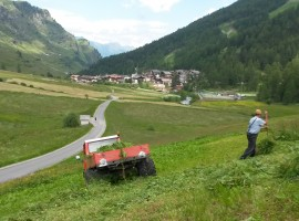 Vista verso Plan, dai masi Zeppichl, Val Passiria