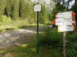 Itinerario a piedi da Sappada alle fino alle sorgenti del fiume Piave