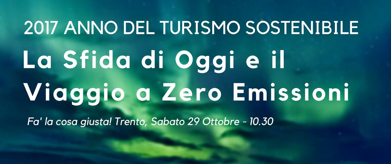 Conferenza gratuita sul turismo sostenibile per Fa' la Cosa giusta! Trento