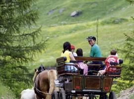 Itinerario lento in Carrozza, a Plan, Moso in Val Passiria, Alto Adige