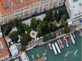 I giardini ex reali di Venezia visti dall'alto