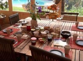 La colazione bio del B&B Casale Hortensiae, Viterbo, Lazio