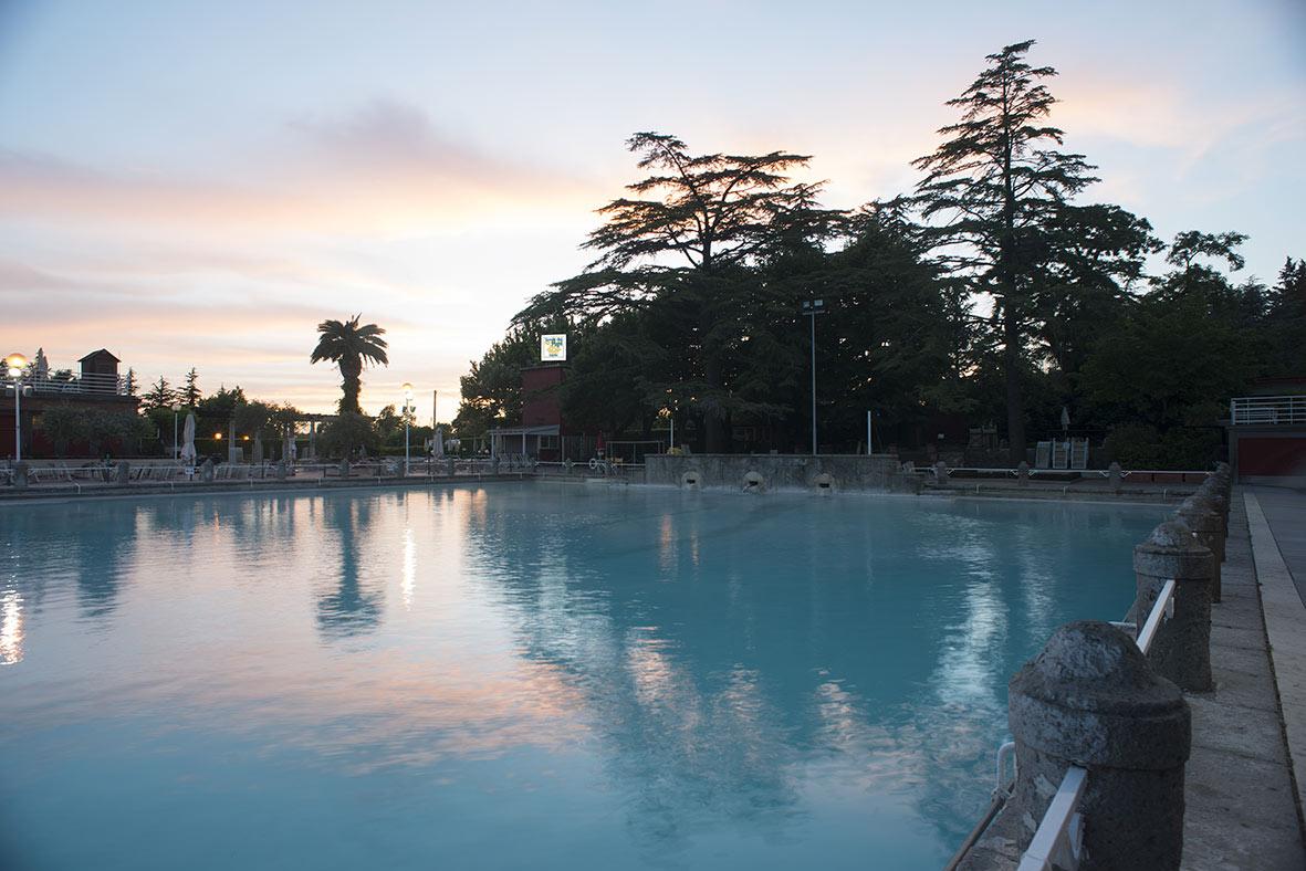 La piscina de Le terme dei Papi, Viterbo