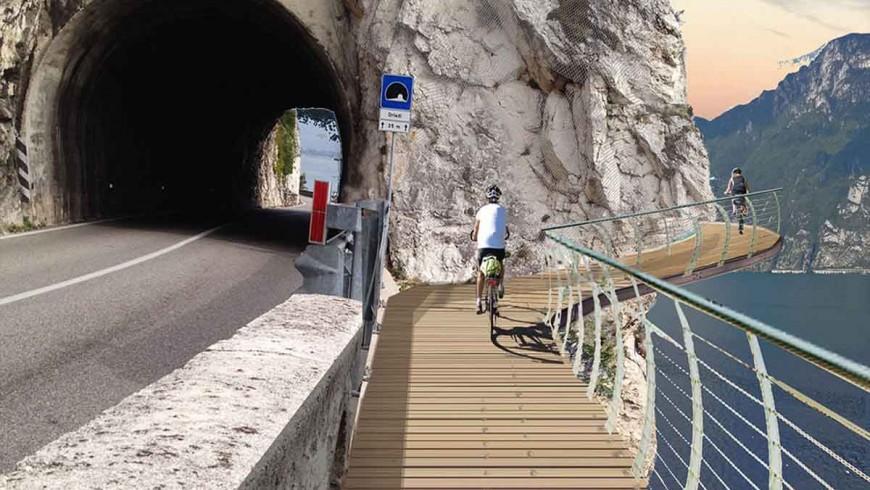 Una nuova e spettacolare pista ciclabile sul Lago di Garda: tratto Limone - confine con Trento