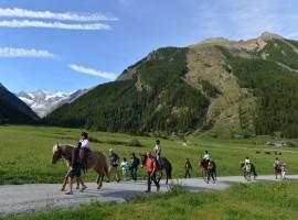 Itinerari a cavallo a Cogne