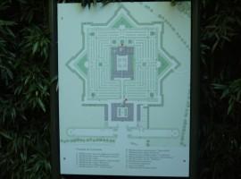 La pianta a forma di stella del Labirinto più grande del mondo, quello di Franco Maria Ricci a Fontanellato, Parma