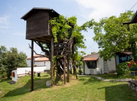 Casa sull'albero dell'agriturismo Aperegina - - sosta green vicino alla Transiberiana d'Italia