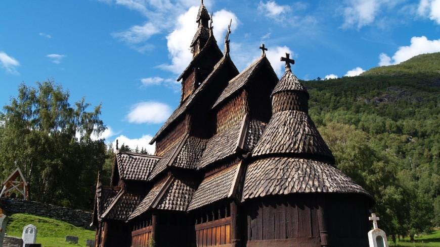 Lærdal, la chiesa in legno meglio conservata della Norvegia