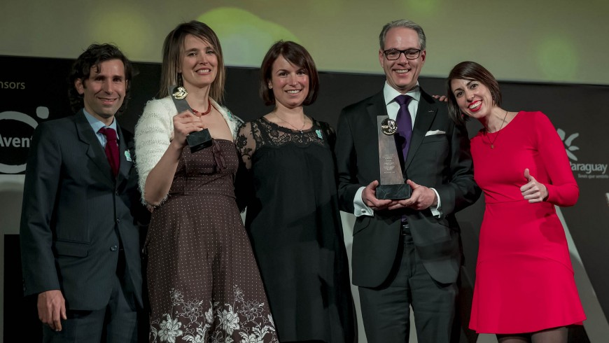Simone Riccardi e Silvia Ombellini alla premiazione degli UNWTO Awards