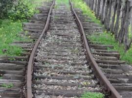 Vecchi binari della Ferrovia Faentina