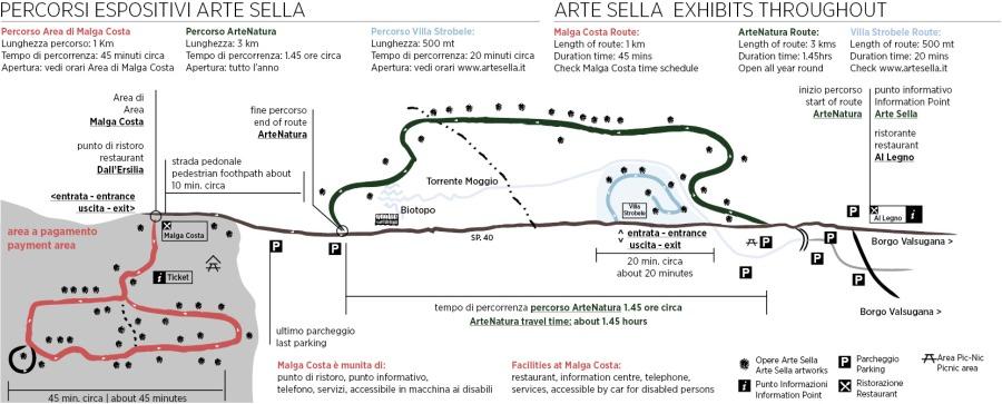 I percorsi di arte di Arte Sella, Trentino