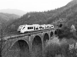tratto della ferrovia faentina sull'Appennino Tosco Romagnolo