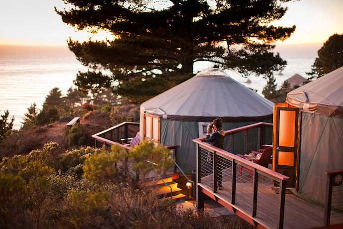 Treebones Resort, hotel sostenibile in California