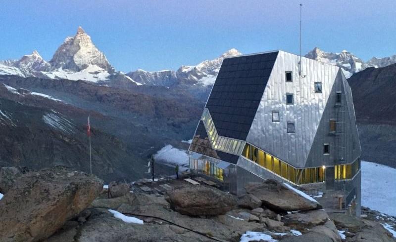 Monte Rosa Hutte, uno dei rifugi eco-sostenibili in Europa
