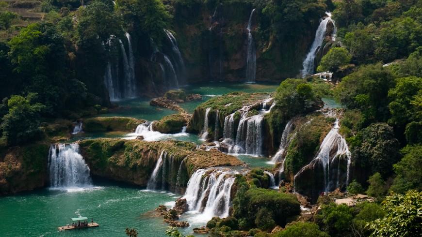 Cascate Detian, Cina e Vietnam