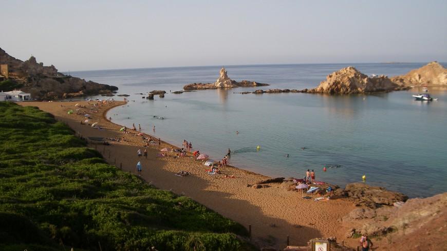 Cala Pregonda, una delle spiagge di Minorca