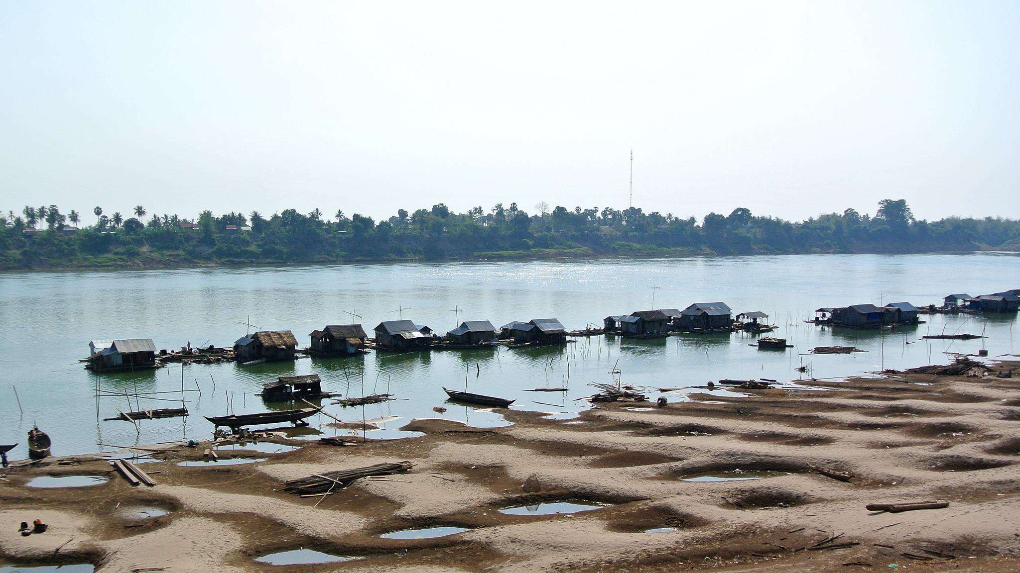 le rive del Mekong a Kratie, Cambogia
