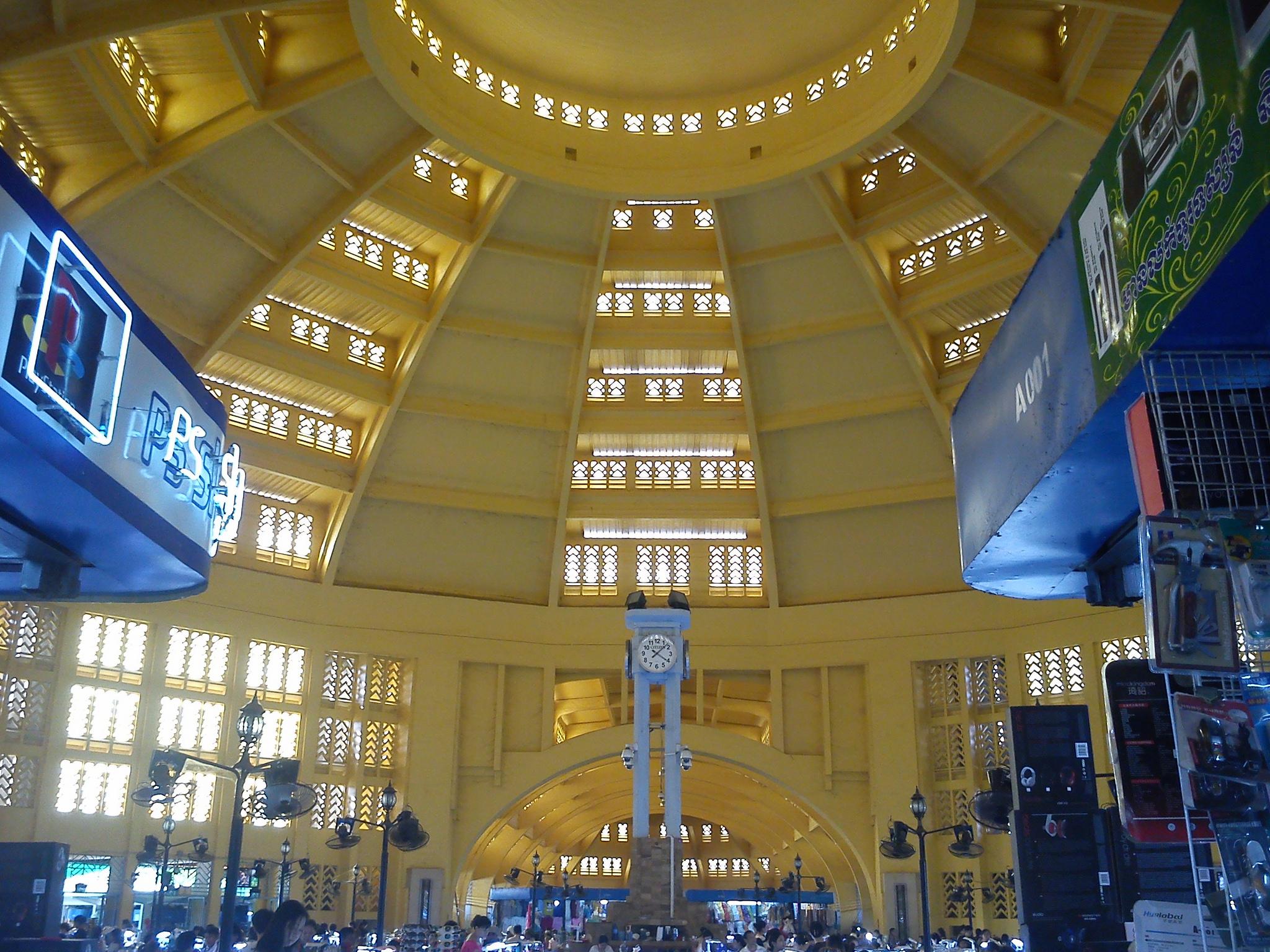 l'interno del mercato Centrale di Phnom Penh