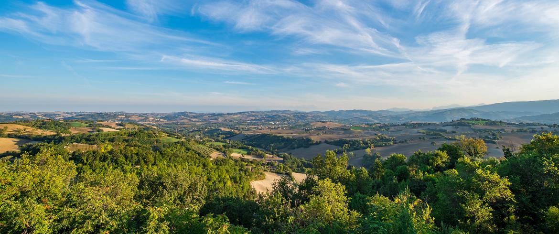 panorama dall'antico borgo di Casa Oliva