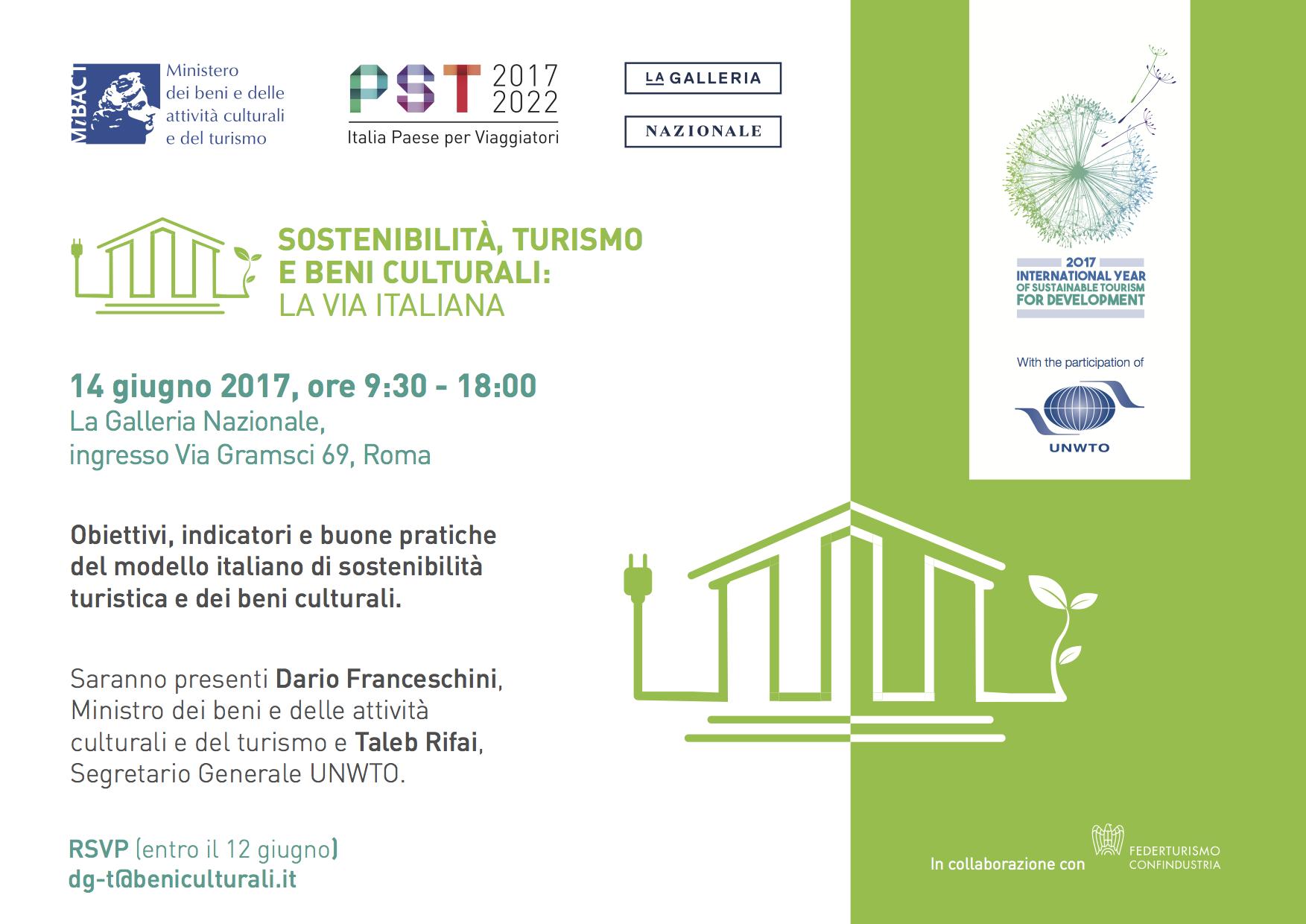 Conferenza Sostenibilità, turismo e beni culturali: la via italiana