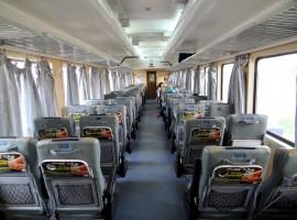 interni del treno, sedute morbide