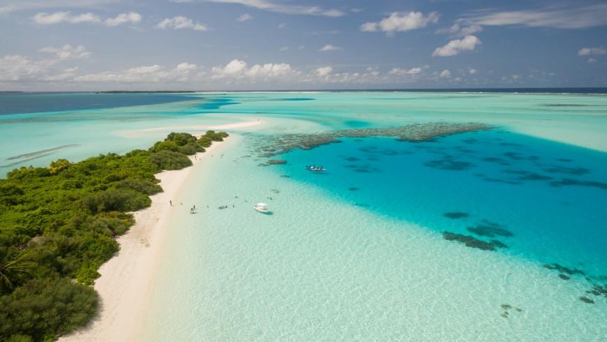 Le Maldive, uno dei luoghi che potrebbero sparire a causa dei cambiamenti climatici