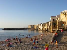 La spiaggia di Cefalù