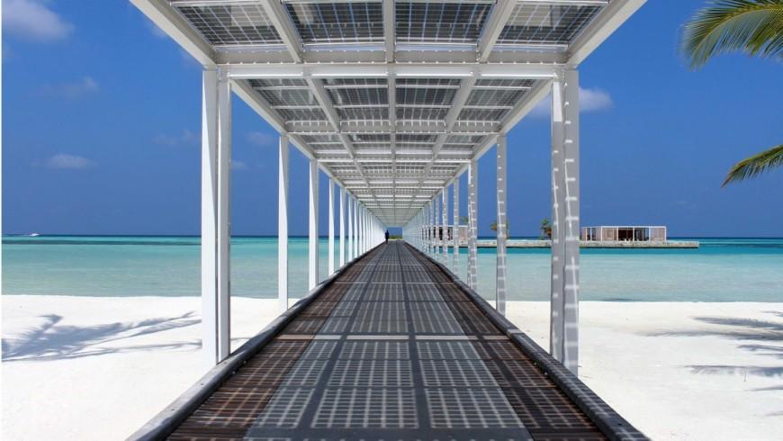 Impianti fotovoltaici di resort ClubMed Finolhu Villas