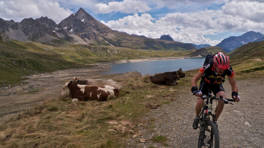 In Val Formazza, itinerario in mtb