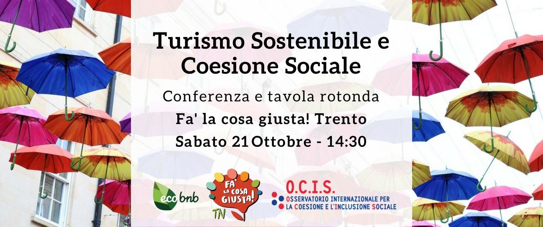 Convegno e tavola rotonda sul Turismo Sostenibile e Coesione Sociale
