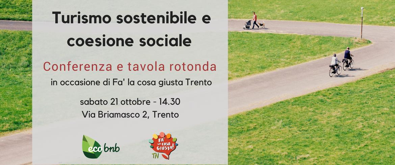 Conferenza e tavola rotonda: Turismo sostenibile e coesione sociale
