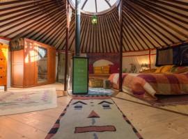 yurta mongola vicino a Torino. Interno