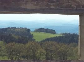 Panorama da Auberge Les Liards, alloggi verdi