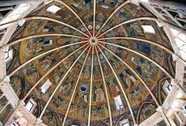 Parma, cupola del Battistero gotico di Parma, affrescata